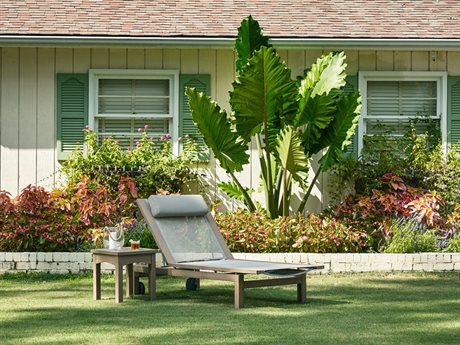 Klaussner Delray Wood Sling Chaise Lounge PatioLiving