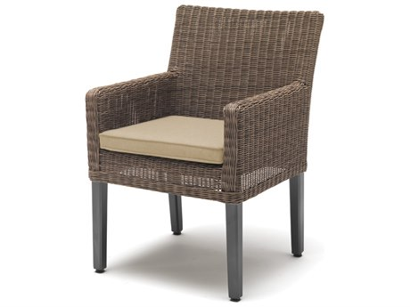 Kettler Bretange Aluminum Wicker Chair with Heather Beige Cushions