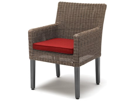 Kettler Bretange Aluminum Wicker Chair with Jockey Red Cushions