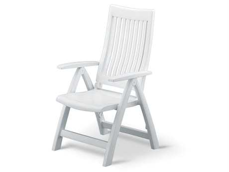 Kettler Roma Resin White Multi-Position Lounge Chair PatioLiving