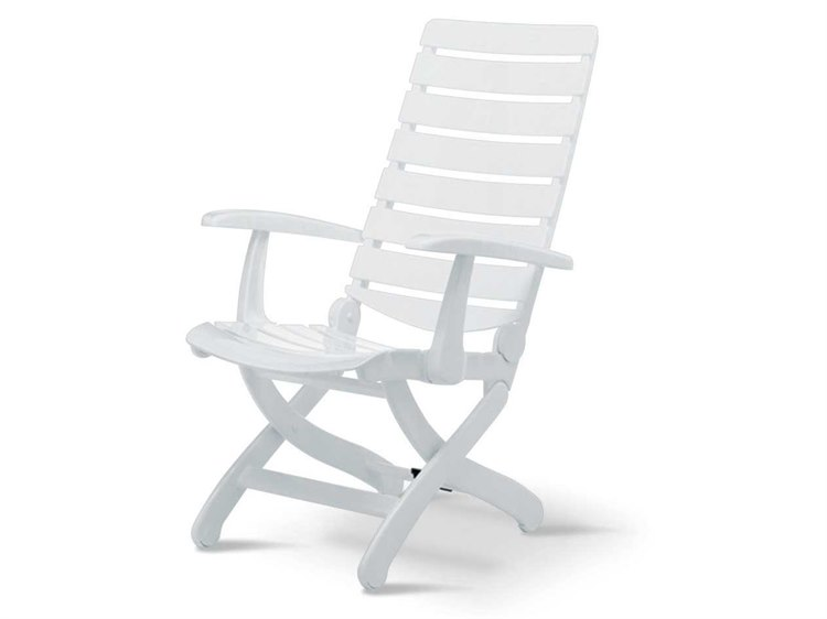 Kettler Tiffany Resin Lacquered White 16-Position Lounge Chair PatioLiving