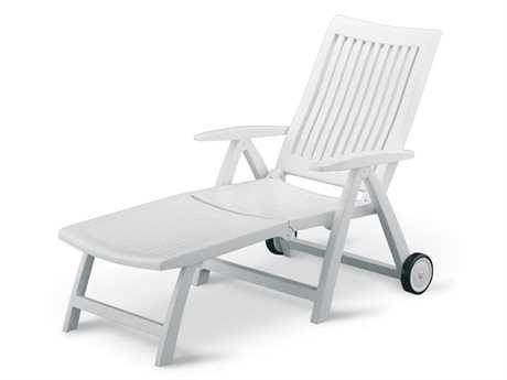 Kettler Roma Resin White Multi-Position Chaise Lounge PatioLiving