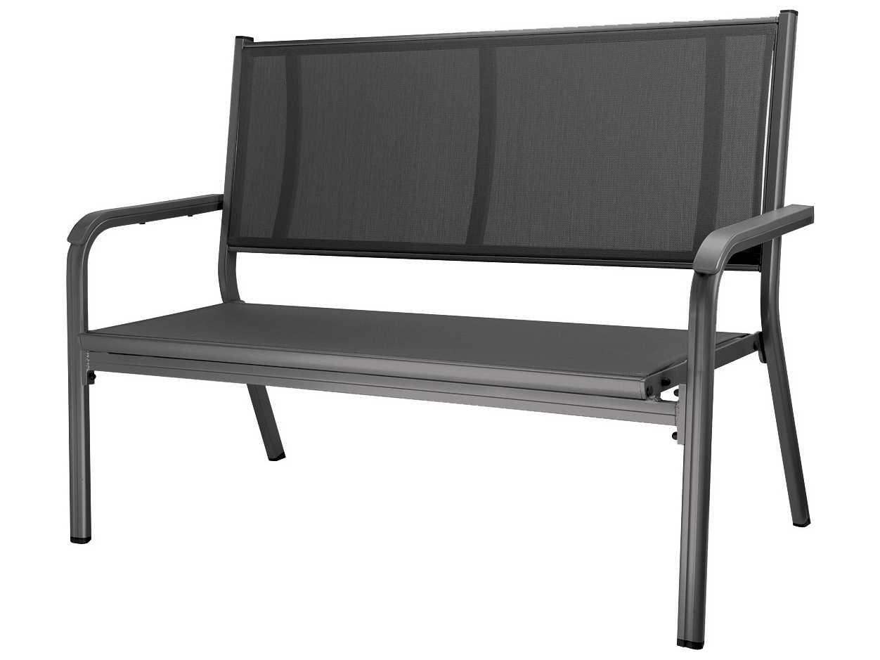 kettler basic plus bench gray gray 301211 7000. Black Bedroom Furniture Sets. Home Design Ideas