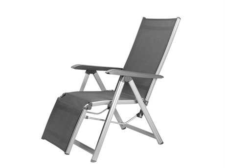 Kettler Basic Plus Aluminum Silver Relaxer Lounge Chair PatioLiving