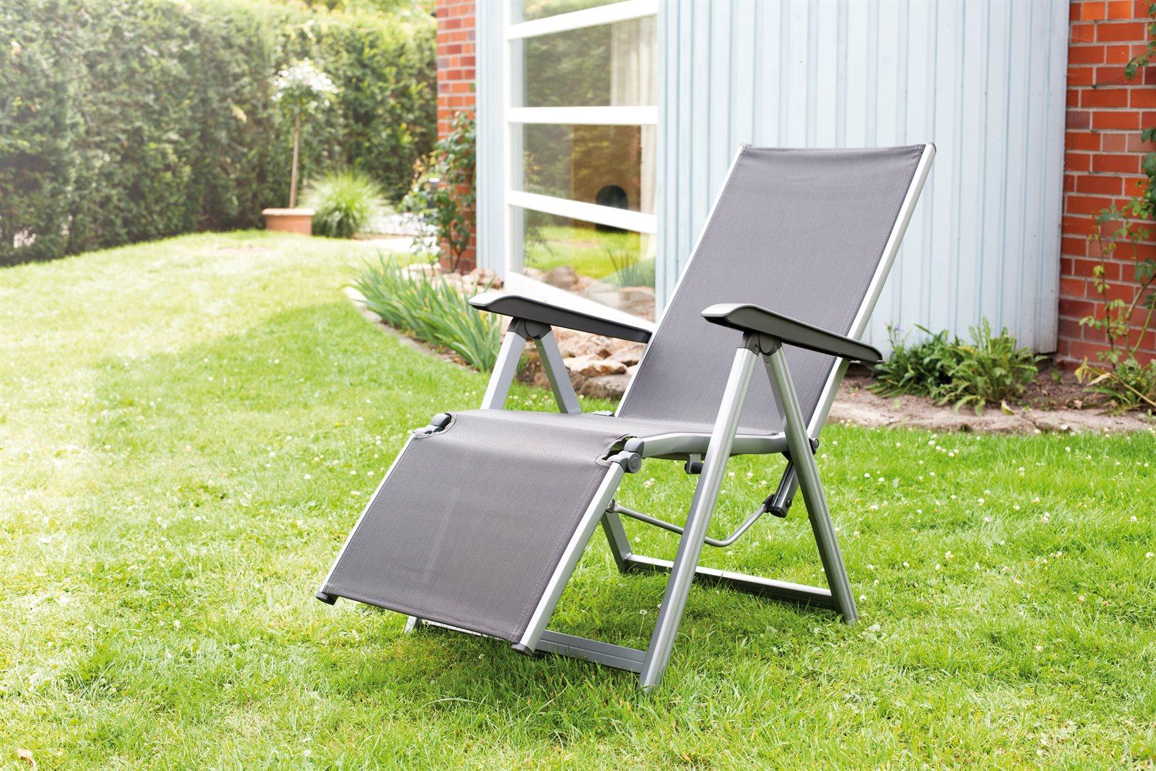 Kettler Basic Plus Aluminum Gray Relaxer Lounge Chair