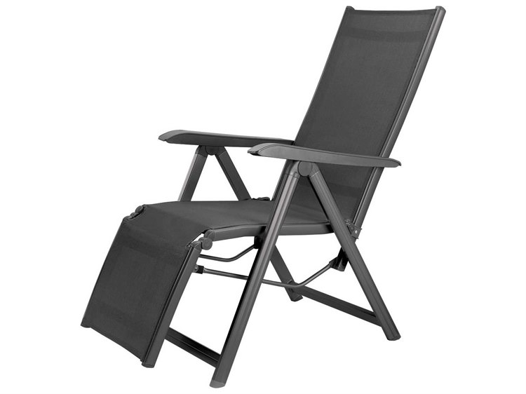 Kettler Basic Plus Aluminum Gray Relaxer Lounge Chair PatioLiving