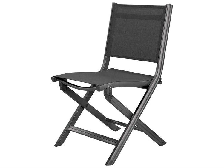 Kettler Basic Plus Folding Side Chair Gray/Gray PatioLiving
