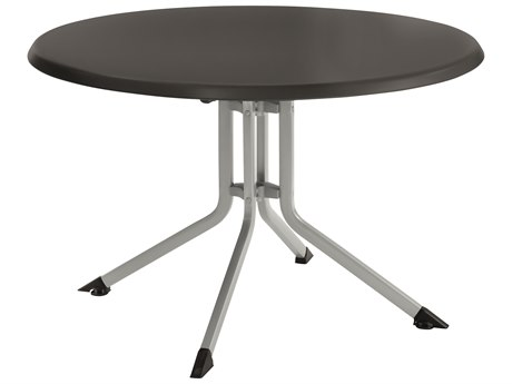 Kettler 46'' Round Folding Table Silver/Gray