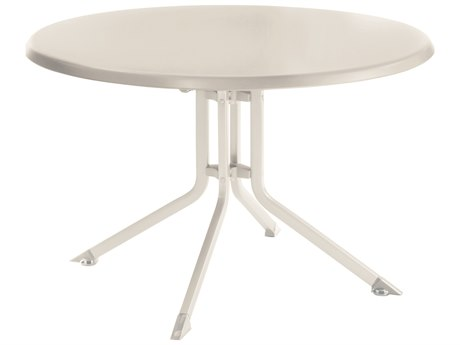 Kettler 46'' Round Folding Table White/White