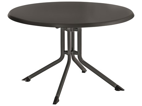 Kettler 46'' Round Folding Table Gray/Gray