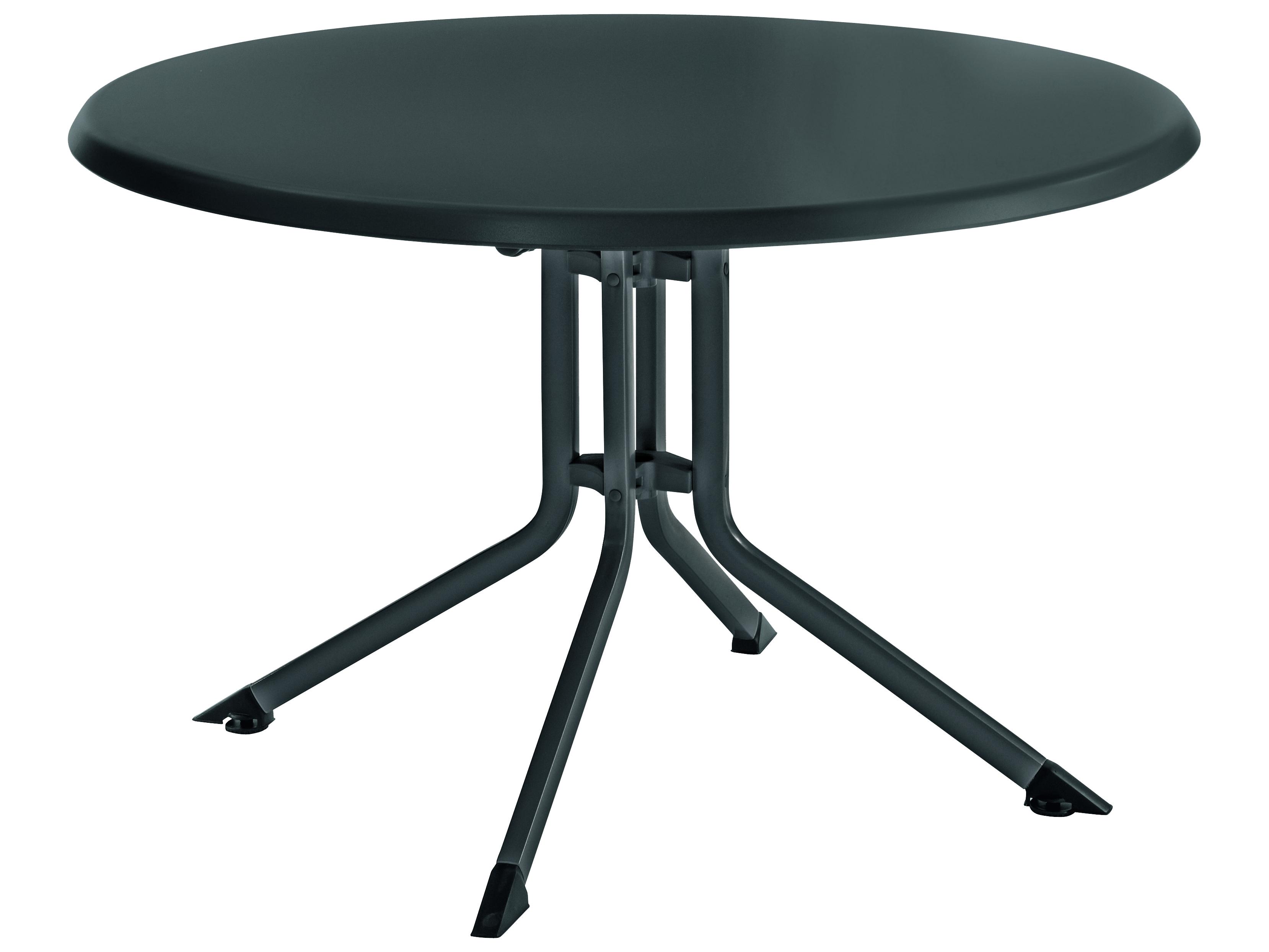 Kettler 46 39 39 round folding table gray gray 307017 7100 for Table kettler