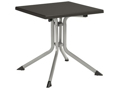 Kettler 32'' Square Folding Table Silver/Gray