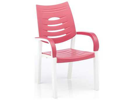 Kettler Happy Stack Chair White/Coral - Set of 4 (Sold in 4)