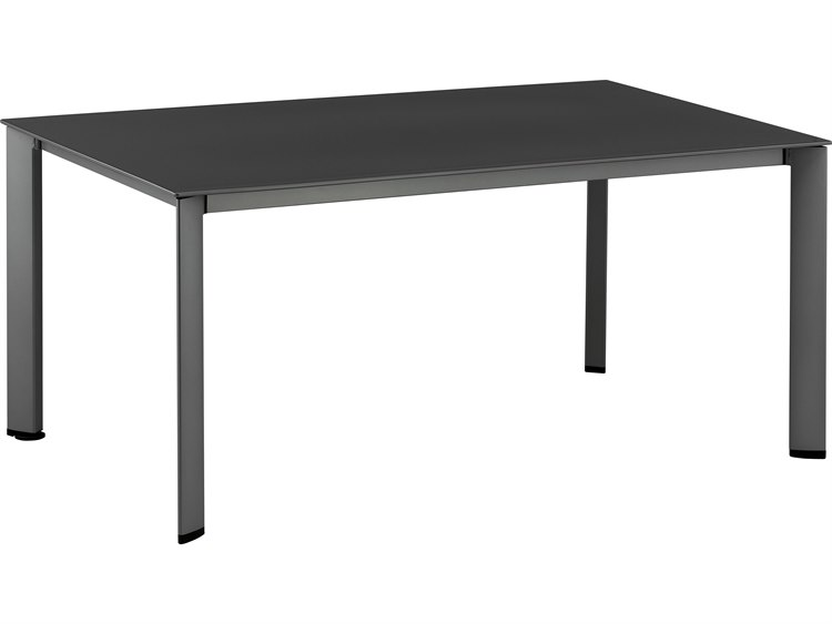 Kettler 63 x 37 Rectangular Loft Dining Table with Umbrella Hole PatioLiving