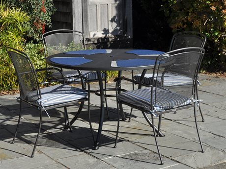 Kettler Henley Wrought Iron Gray Dining Set PatioLiving