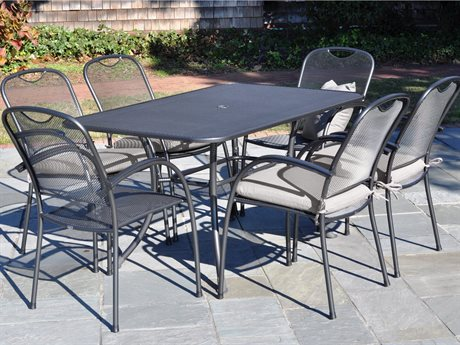 Kettler Monte Carlo Wrougt Iron Gray Dining Set PatioLiving