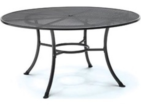 Kettler Steel 60 Round Mesh Top Table with Umbrella Hole