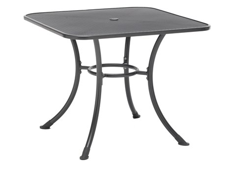 Kettler Steel 32 Square Mesh Top Table with Umbrella Hole