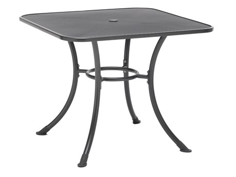Kettler Steel 42 Square Mesh Top Table with Umbrella Hole