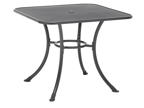 Kettler Steel 36 Square Mesh Top Table with Umbrella Hole