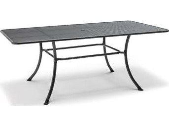 Kettler Steel 57 X 35 Rectangular Mesh Top Table With