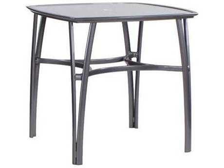 Koverton Modone Tables Aluminum 42'' Wide Square Bar Table with Umbrella Hole