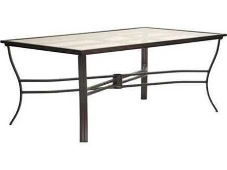 Koverton Escape Aluminum 72''W x 42''D Rectangular Dining Table with Umbrella Hole