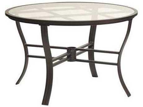 Koverton Escape Aluminum 48'' Wide Round Dining Table with Umbrella Hole