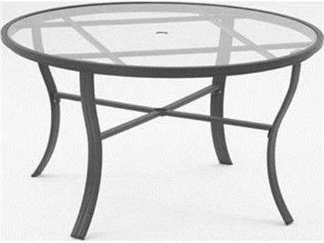 Koverton Escape Aluminum 54'' Wide Round Dining Table with Umbrella Hole