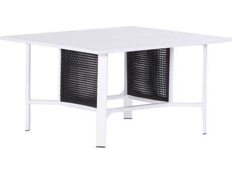Koverton Parkview Woven Wicker 42'' Wide Square Chat Table with Hole