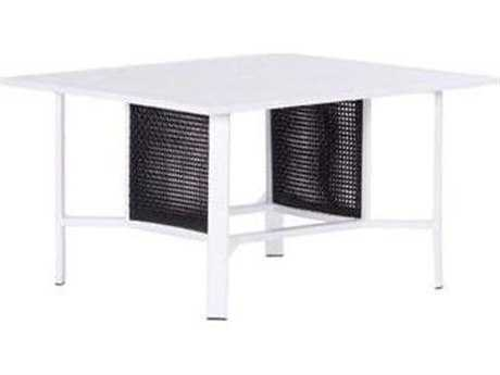 Koverton Parkview Woven Wicker 48'' Wide Square Dining Table with Umbrella Hole
