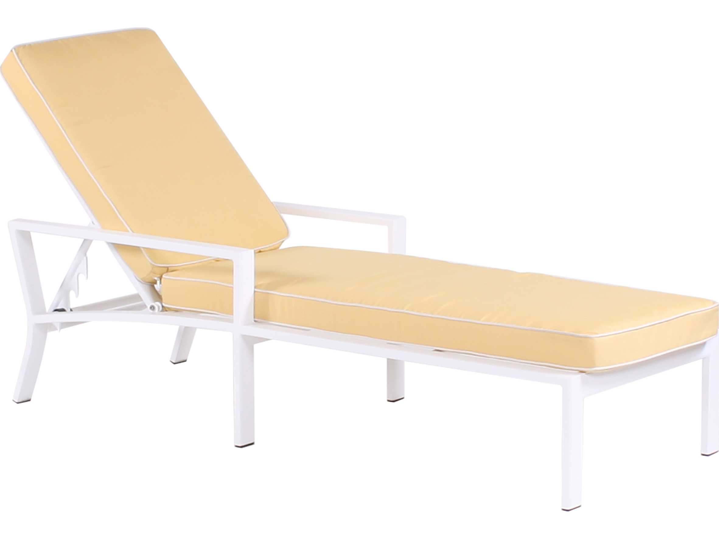 Koverton parkview cast aluminum single chaise lounge for Cast aluminum chaise