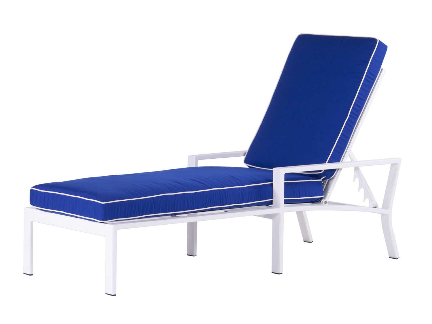 Koverton parkview knest cast aluminum single chaise lounge for Cast aluminum chaise lounge