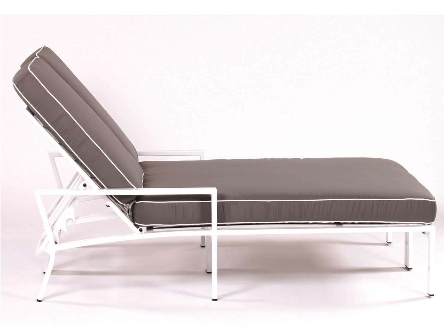 Koverton parkview knest cast aluminum double chaise lounge for Chaise aluminium