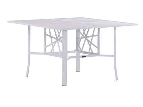 Koverton Parkview Knest Cast Aluminum 42 Square Dining Table with Hole
