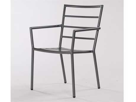 Koverton Linear Extruded Aluminum Arm Stacking Dining Chair