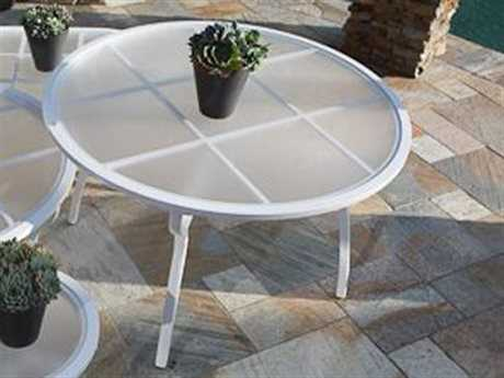 Koverton Evans Cast Aluminum 42'' Wide Round Chat Table with Umbrella Hole