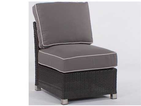 Koverton Soho Wicker Deep Seating Armless Club Chair