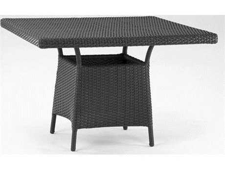 Koverton Soho Wicker 42'' Wide Square Dining Table with Umbrella Hole