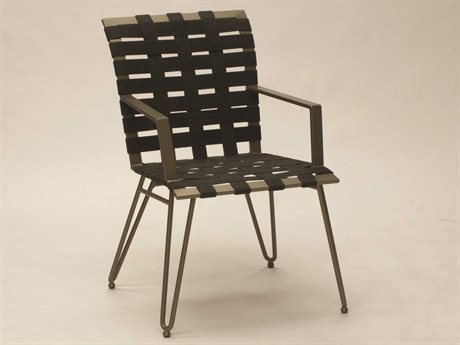 Koverton Form Extruded Aluminum Arm Dining Chair