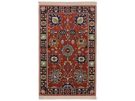 Karastan Rugs English Manor Cambridge Rectangular Crimson Red Area Rug