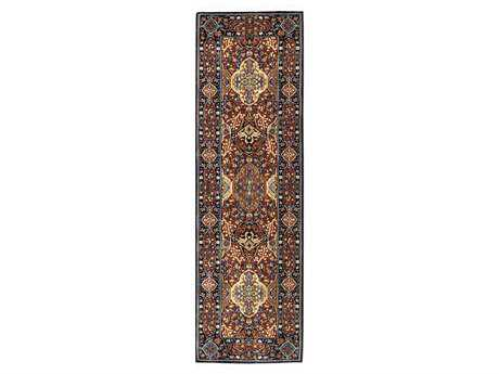 Karastan Rugs English Manor Hampton Court Rectangular Brick Red Runner Rug