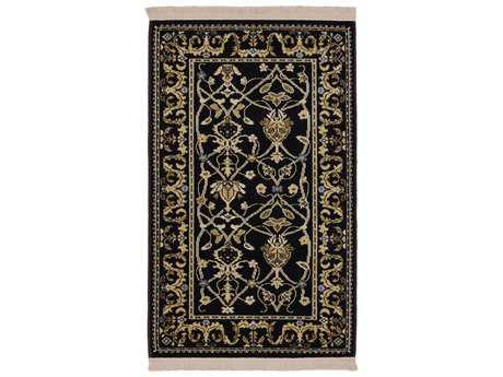 Karastan Rugs English Manor William Morris Rectangular Black Area Rug