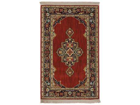 Karastan Rugs English Manor Canterbury Rectangular Brick Red Area Rug