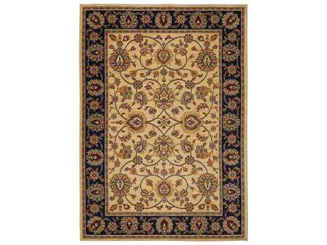 Karastan Rugs English Manor Oxford Rectangular Ivory Area Rug