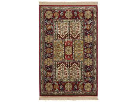 Karastan Rugs Antique Legends Bakhtiyari Rectangular Crimson Red Area Rug