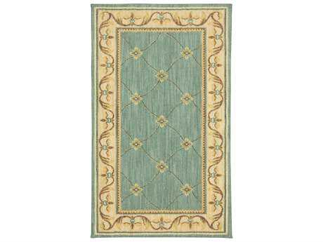 Karastan Rugs Sierra Mar Marie Louise Rectangular Robins Egg Blue Area Rug