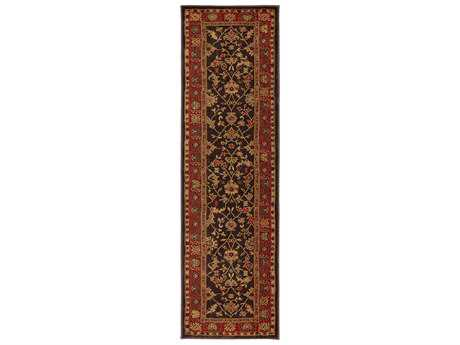 Karastan Rugs Knightsen 2'4 x 8'3 Rectangular Coffee Brown Runner Rug