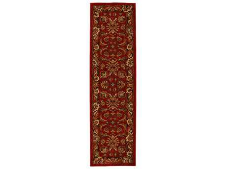 Karastan Rugs Knightsen 2'4 x 8'3 Rectangular Candy Apple Red Runner Rug