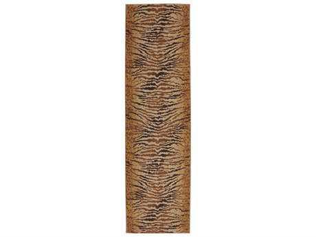 Karastan Rugs Carmel Palmero 2'4 x 8'3 Rectangular Chestnut Beige Runner Rug